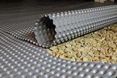 WhiteCap liner drainage matting for crawl space encapsulation. Crawl Space Insulation, Crawl Space Repair, Remodeling Mobile Homes, Home Remodeling, Crawl Space Door, Crawl Spaces, Crawl Space Foundation, Foundation Repair, Crawl Space Encapsulation