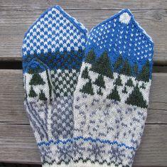 beautiful kitted mittens with chart --- ВАРЕЖКИ. Обсуждение на LiveInternet - Российский Сервис Онлайн-Дневников