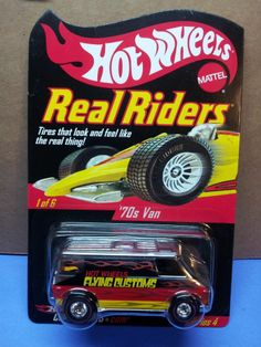 Hot Wheels 2005 Red Line Club Series 4 Real Riders 70s Van #/11000