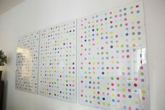 Can Damien Hirst sue someone for repurposing such a simple and obvious idea? More importantly, can you sell yours for millions :-) From 25 DIY Easy And Impressive Wall Art Ideas