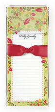 Autumn Leaves Slim Notes with Acrylic Holder #StationeryStudio
