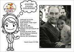 Atatürk çocuk sevgisi Class Bulletin Boards, Child Day, Pre School, Montessori, Children, Kids, Kindergarten, Clip Art, Teaching