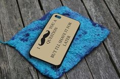 Mustache Question iPhone 5 Case by snappycase on Etsy, $15.79