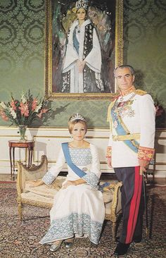 Last king and queen of Iran: Mohammad Reza And Farah Pahlavi.