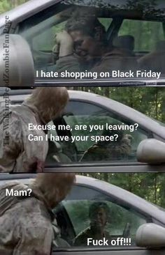 The Walking Dead / Black Friday funny meme