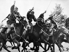 Red army cavalry charge with sabers drawn following the tanks into... News Photo 170985872 | Getty Images