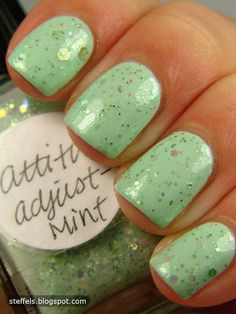 "Lynnderella ""Attitude Adjust-Mint""...can I PLEASE do this for Easter??"