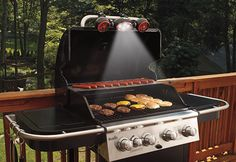 Cook perfectly grilled steaks, ribs and burgers – even at night – with this BBQ Grill Light and Fan. There's never been a great way to view your grill surface after the sun goes down, until now. With this clamp-on light and fan system, 4 ultra-bright LED lights illuminate your grill surface, while dual fans pull smoke up and away. Fans and lights have separate switches, for individual functions.
