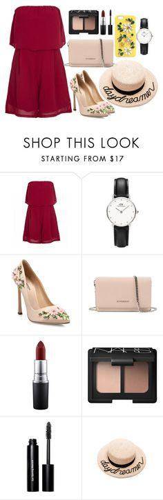 """Flower Power"" by daniel-wellington ❤ liked on Polyvore featuring Giambattista Valli, Givenchy, MAC Cosmetics, NARS Cosmetics, Bobbi Brown Cosmetics, Eugenia Kim and Dolce&Gabbana"