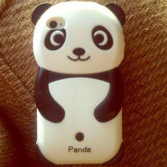 iPhone 4/4s silicone panda case Cute iPhone panda case in very good condition. Bundle with any item, just ask. I take trades and offers Accessories