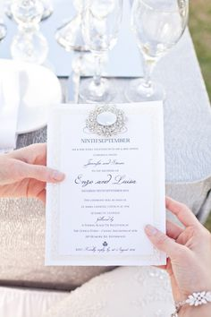 Diamond #wedding #invitation // Invitation by Delightfully Invited