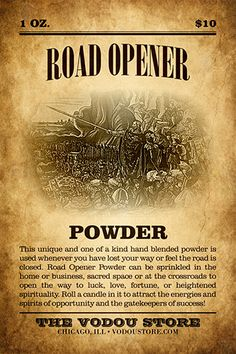 Road Opener Powder : The Vodou Store Hoodoo Spells, Wiccan Spells, Voodoo Hoodoo, Healing Spells, Money Spells, Practical Magic, Book Of Shadows, The Conjuring, Spelling