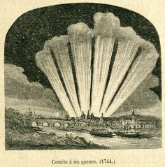The Great Comet . Comet de Cheseaux . 1744