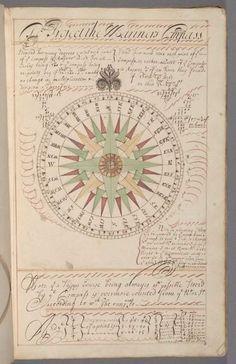 Manual of navigation (manual de navegación) Manuscript, [1697?]. MS Typ 805 Houghton Library, Harvard University.