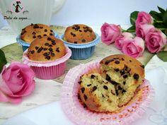 muffin con banana e gocce di cioccolato
