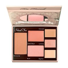 The Best Palette Choices for Redheads - FACE. Too Faced Natural Face Palette #RedheadMakeup