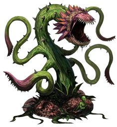 Copyright Paizo From the new Bestiary 4 for Pathfinder! Forest Creatures, Alien Creatures, Mythical Creatures, Monster Design, Monster Art, Creature Feature, Creature Design, Plant Monster, Beast Creature