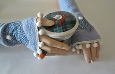 Wollwalk Armstulpen Monique hellblau – Gr. S/M Country Style, Accessories, Light Blue