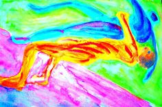 These colors  Are famous.  even people  who do not know  much about art,  know this distinctive world  and elongated shapes.