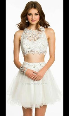White two piece prom dress love the bodice