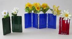 fused glass pocket vase - Buscar con Google