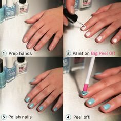 Never soak or scrub your polish off again. Follow this tutorial to see how easy polish removal is with Big Peel Off base coat.