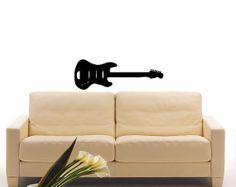 Guitar Stringed Musical Instrument Music Wall Vinyl Decal Art Design Murals Interior Music Room Decor Sticker SV856