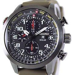 SEIKOのソーラー時計欲しいミニタリーぽくてこれもかっこいいなー