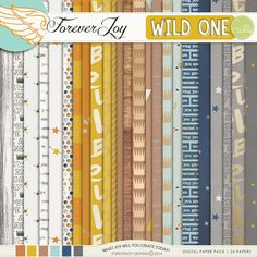 Digital Scrapbooking Kit - WILD ONE BUNDLE | ForeverJoy Designs | Inspired by Where the Wild Things Are | boys scrapbooking | #creatingjoy #digiscrap