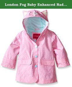 b75829027 London Fog Baby Enhanced Radiance Kitty Cat Rain Slicker, Dot Print, 18  Months.