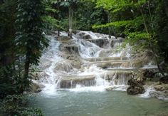 Mayfield Falls.  Another waterfall treasure located on Jamaica's South Coast.