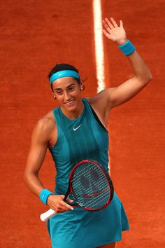 Day Caroline Garcia of France celebrates victory during her ladies singles first round match against Yingying Duan of China during day three of the 2018 French Open at Roland Garros on May 2018 in Paris, France. Saint Germain, Caroline Garcia, French Open, Tennis Stars, First Round, Tennis Players, Sport, Tennis Racket, Paris France