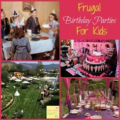 Frugal parties for kids