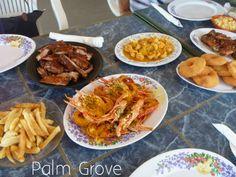 Crayfish, Johnny Cakes and Ribs at Palm Grove, Anguilla