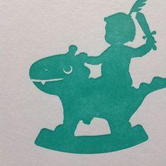 www.geboortekaartenonline.nl # letterpress # dragon # draak # green # groen # info@geboortekaartenonline.nl