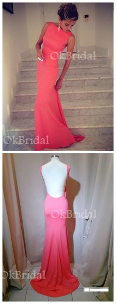 Backless Red Evening Prom dresses, Red Long Party prom dress, mermaid prom dress, sexy prom dress, long prom dress, cheap prom dress, 15128