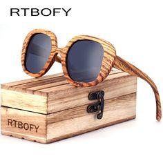 edfa4e739c13 RTBOFY 2017 Wood Sunglasses Men Bamboo Sunglasses au Retro Vintage Sun  Glasses Lens Wooden Frame Handmade
