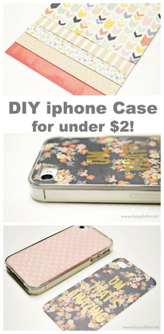 DIY iphone case for under $2! - www.classyclutter.net