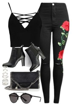 Sin título #12258 by vany-alvarado on Polyvore featuring polyvore, fashion, style, Boohoo, SWEET MANGO, STELLA McCARTNEY, Forever 21, Christian Dior and clothing
