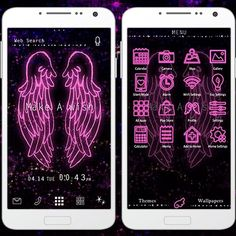 """""""Mystical Universe"""" 5/3 '15  Make a wish as you fly into the sea of stars with this pair of wings in this stylish theme! http://app.android.atm-plushome.com/app.php/app/themeDetail?material_id=1252&rf=pinterest #cute #love #design #girl #fashion #beautiful #plushome #deco"""