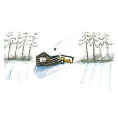 Lily Niauri #winter #track #illustration #snow #warm