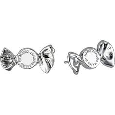 Marc by Marc Jacobs Lost and Found Candy Stud Earrings Earring, Silver ($35) ❤ liked on Polyvore featuring jewelry, earrings, silver, marc by marc jacobs, post earrings, silver stud earring sets, marc by marc jacobs jewelry and silver jewellery