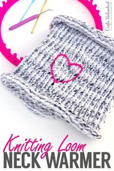 Knitting Loom DIY Neck Warmer
