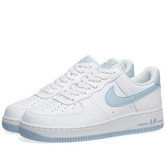 Buy the Nike Air Force 1 W in White & Light Armory Blue from leading mens fashion retailer END. - only Fast shipping on all latest Nike products with air force ones white Nike Air Force 1 W Dr Shoes, Nike Air Shoes, Hype Shoes, Me Too Shoes, Shoes Men, Flat Shoes, Cool Nike Shoes, Shoes Sandals, Gucci Shoes