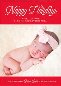 Share a special announcement this holiday with a Minted birth announcement greeting card.