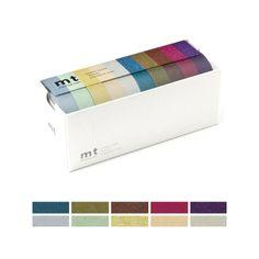 mt masking tape box | Set de diez piezas Dark Colors Washitape