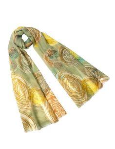 Dahlia Women's 100% Merino Wool Pashmina Scarf - Flower Edge Thicket - Gray at Amazon Women's Clothing store: