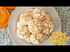 (21) Galletas Craqueladas de limón | Mi tarta preferida - YouTube