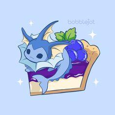 Cute sweet themed vaporeon fan art 💙 I love eeveelution art!