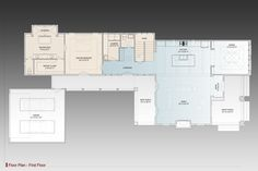 1st Floor Plan image of Annabel Drive House Plan